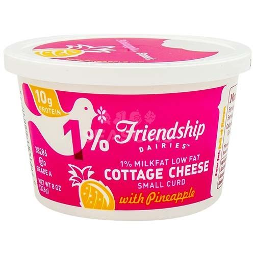 Friendship Cottage Cheese 1 W Pineapple 8 Oz Passover